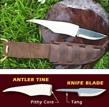 How-To:  Mount a knife blade in an antler without glue