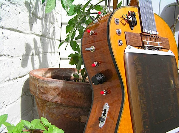 Tablet guitar creates art and music