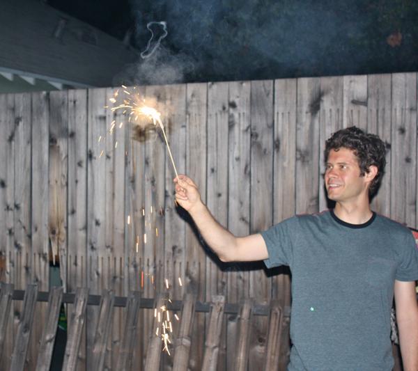 DIY fireworks in action