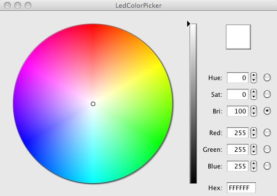 Arduino color picker