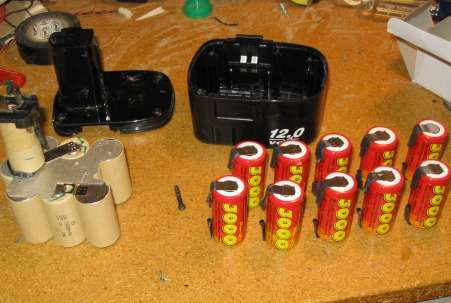 How-To:  Upgun your power drill battery pack