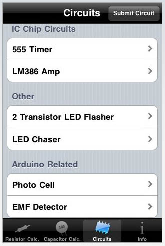 DIY electronics iPhone app