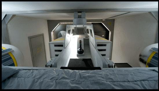 Y-Wing bunk completes a scifi bedroom
