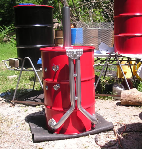 Combination grill/smoker from steel drum