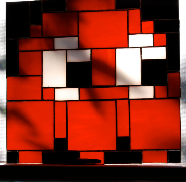 Stained glass pixel art