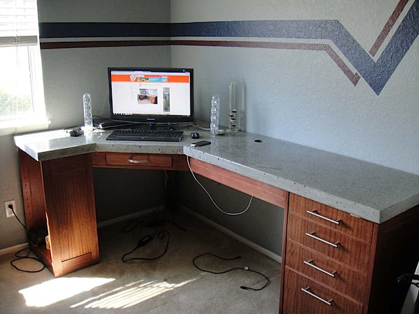 How-To: Polished concrete desk