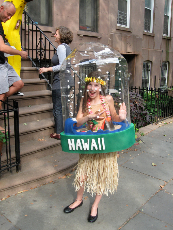 Debilitatingly cute snowglobe costume