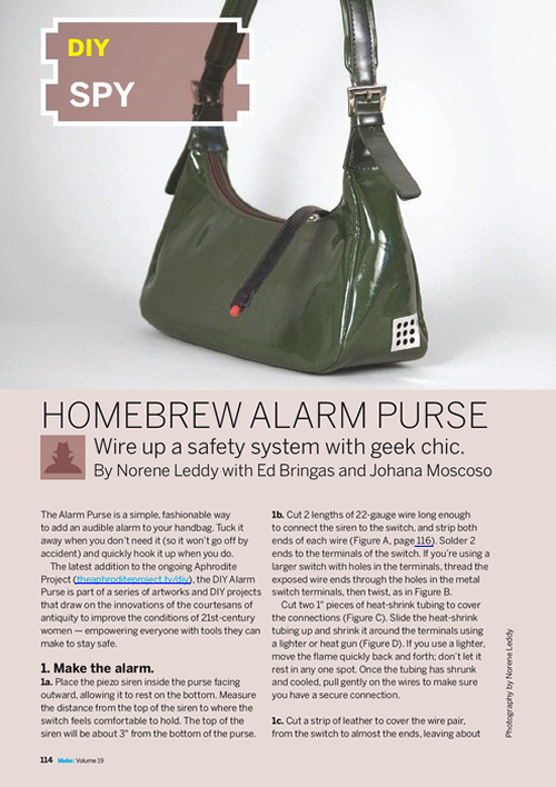 Weekend Project: Homebrew Alarm Purse (PDF)