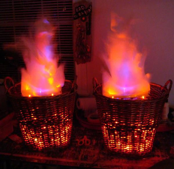 How To:  Fake Fire Baskets