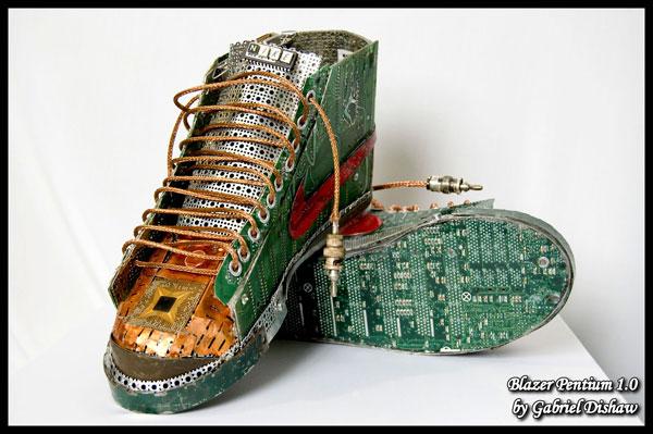 Gabriel Dishaw's junk art Nikes
