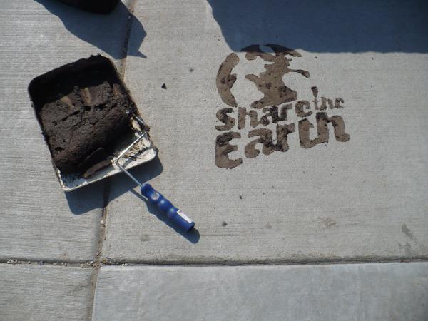 Mud graffiti is fun, eco-friendly
