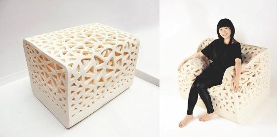 """SuperFoam"" block collapses into chair under weight"