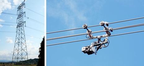 High voltage line robot