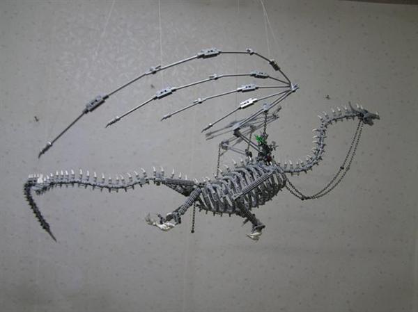 Lego bone dragon