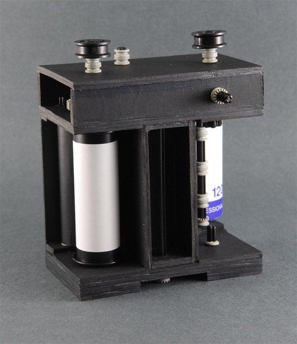 Homemade medium format camera