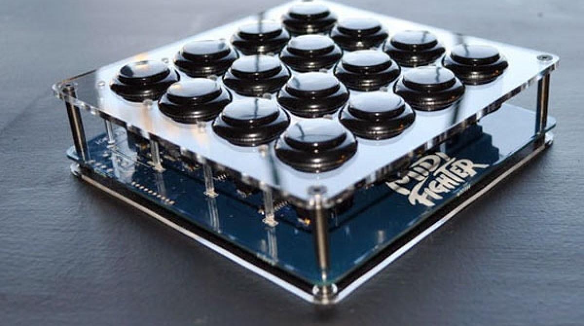Arcade button MIDI controller kit | Make: