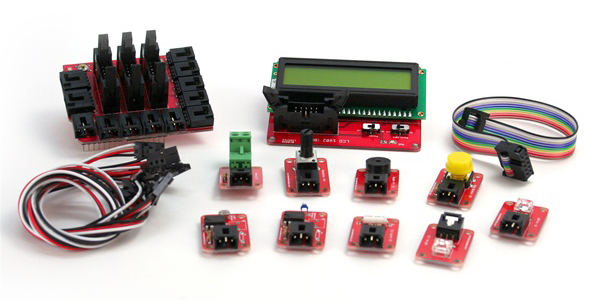 In the Maker Shed: Electronic Brick starter kit