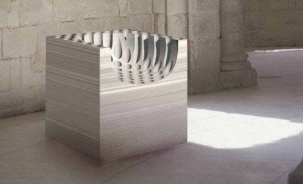 Paper chair, a chair carved from paper