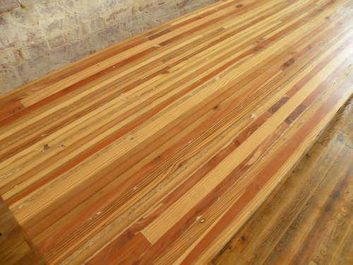 Beautiful scrap wood butcher block table