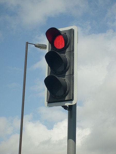 LED traffic lights don't melt snow