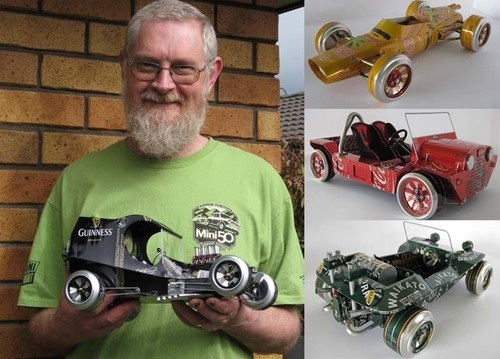 Model cars from cans…