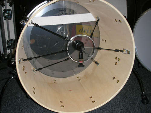 How-To:  Bass drum microphone shock mount