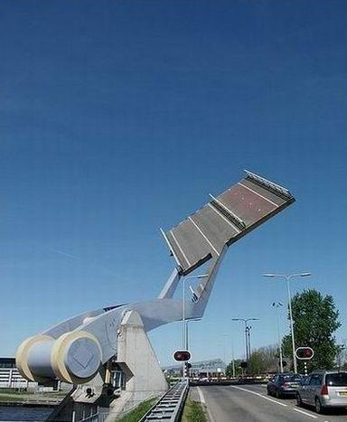 Awesome flying drawbridge