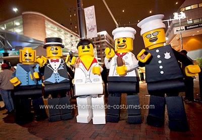 LEGO minifig group costume