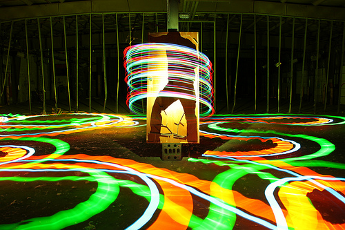 Cold cathode light painting