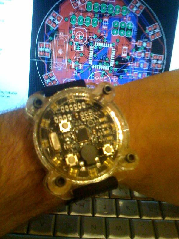 Peek at Bre's MakerBot watch