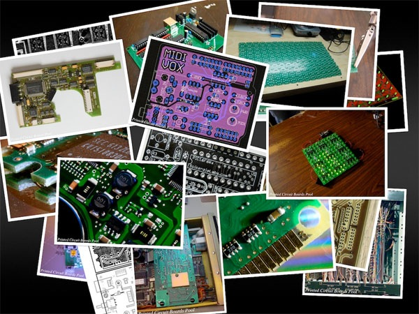 PCB collage screensaver via Flickr feed
