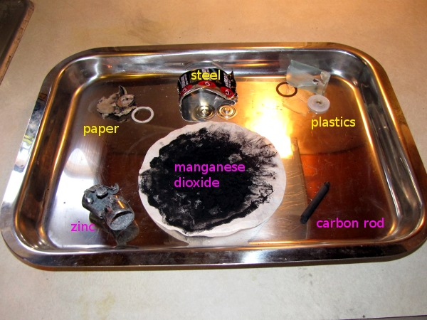 Make: Projects – Harvesting chemicals from a battery