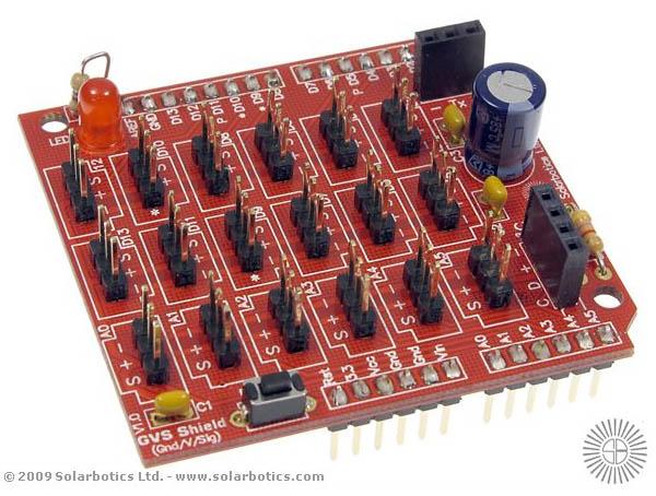Solarbotics' new 3-wire Sensor Shield