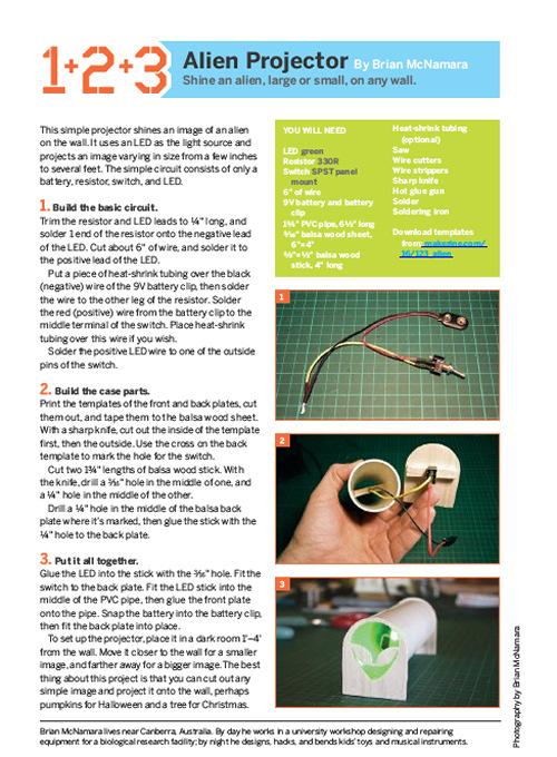 Weekend Project: Alien Projector (PDF)