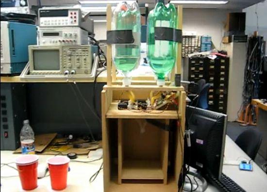 Automatic wireless drink mixer