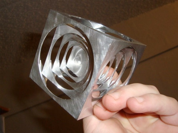 Machining nested cubes