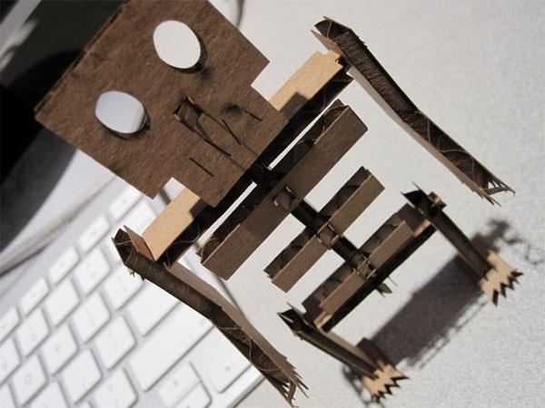 Laser-cut skeleton