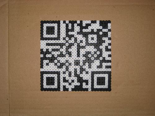 Perler bead QR codes