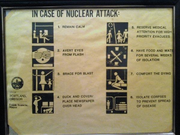 Awesome/morbid Cold War era Civil Defense poster