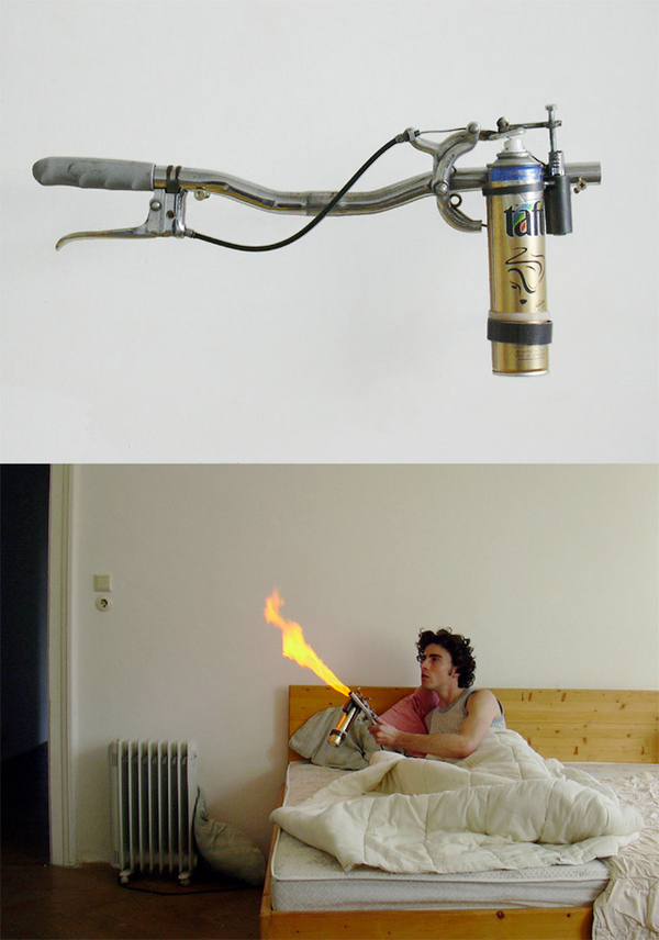 Anti-flamethrower mosquito
