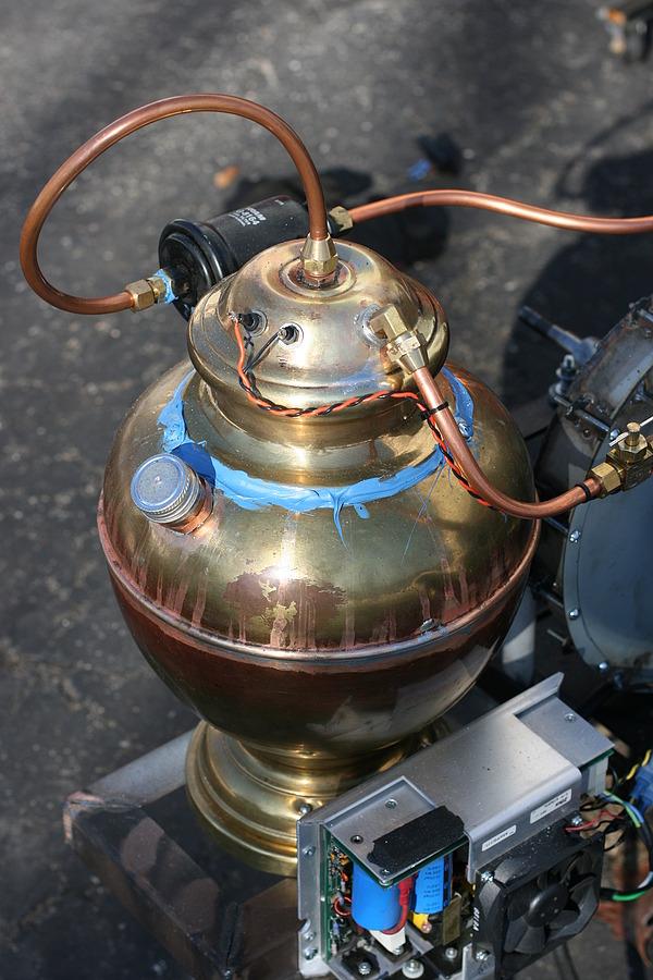 Von Slatt's gas and waste oil foundry furnace