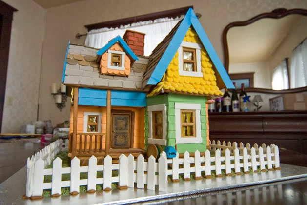 Gingerbread House Inspired by Pixar's Up