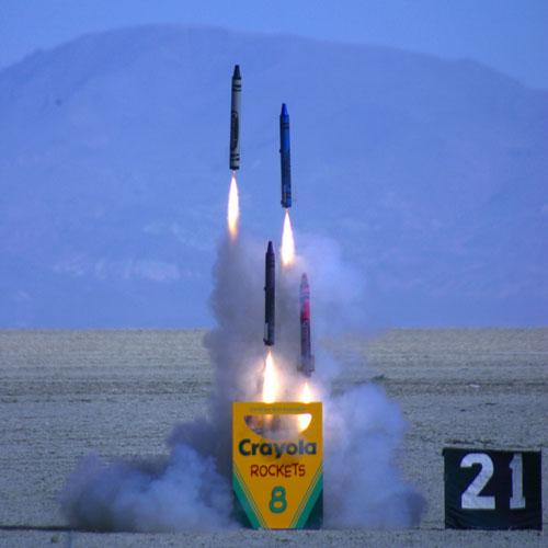 Crayon rockets!