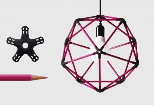 Thirty-pencil icosahedral lampshade