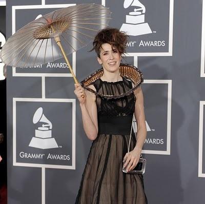 Waldemeyer outfits Imogen Heap's Twitter dress at the Grammys