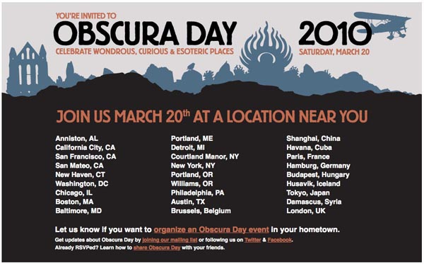 Obscura Day, March 20, 2010