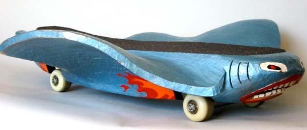 Hand-carved skateboards