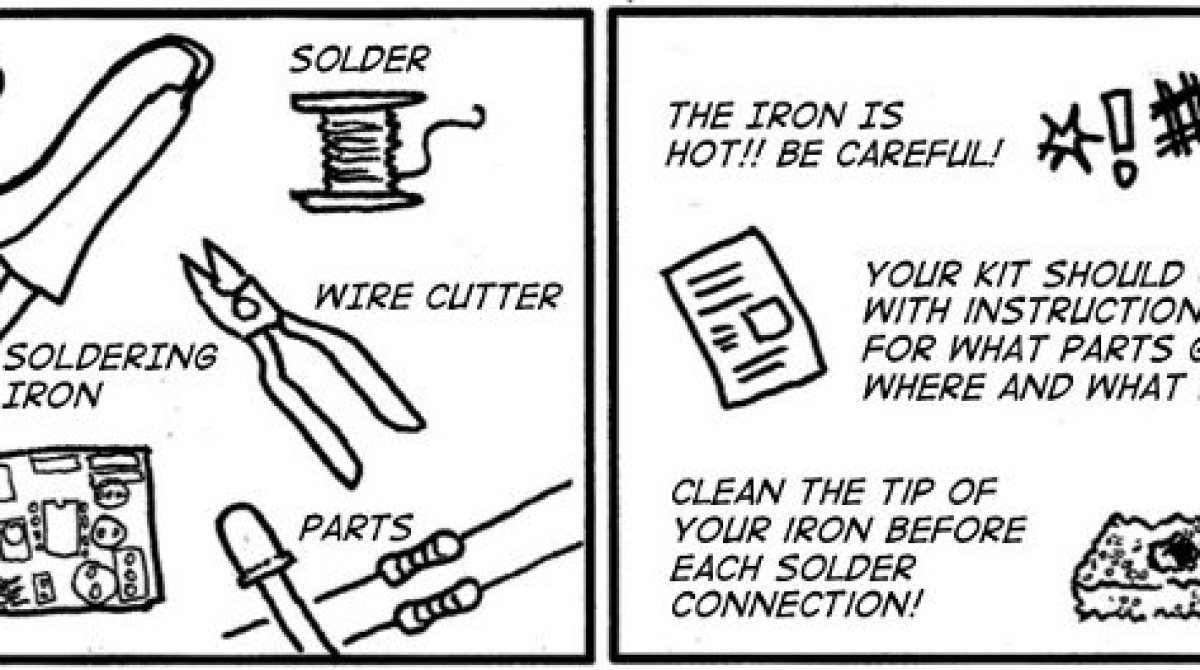Soldering is easy with this cartoon! | Make: