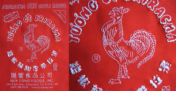 Sriracha embroidery