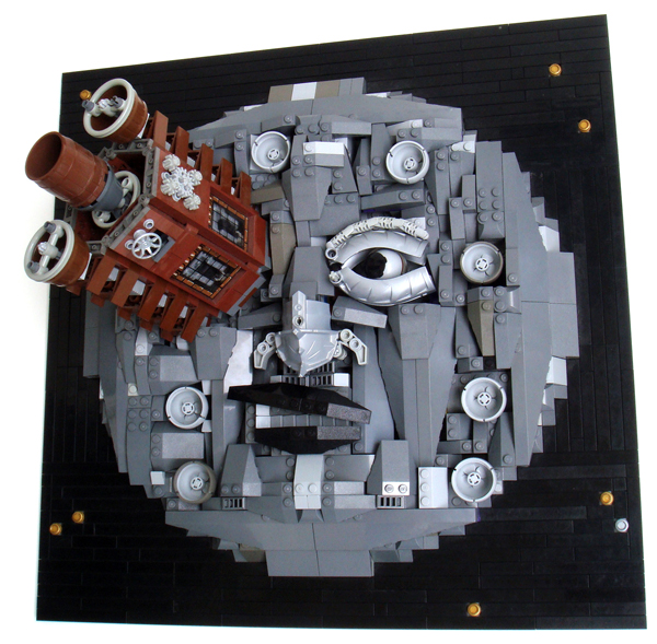 """Lego steampunk """"Voyage to the Moon"""" model"""